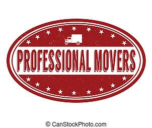 profissional, movedores, selo