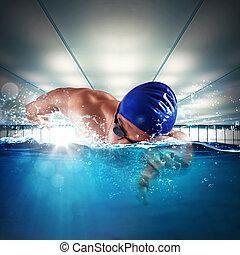 profissional, nadador