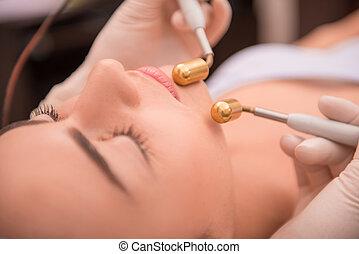 profissional, pele, cosmetologia, cuidado