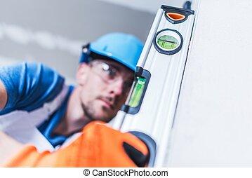 profissional, trabalhador construção