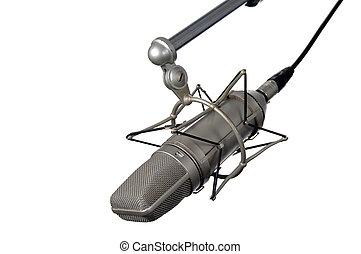 profissional, vindima, microfone