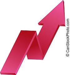 profit arrow chart