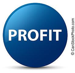 Profit blue round button