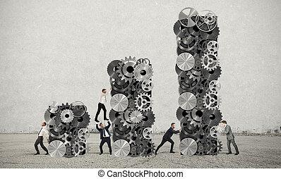 profit, collaboration, constitué, constructions