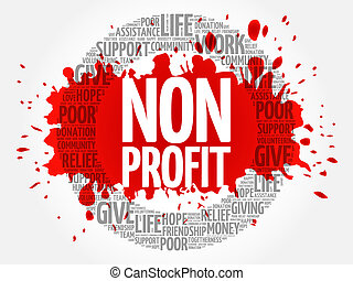 profit, collage, non, mot, nuage