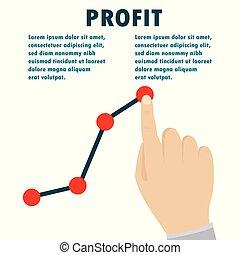Profit concept, growing business graph