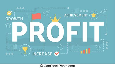 Profit concept. Idea of personal and finance growth