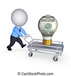 Profit concept. Isolated on white.3d rendered.