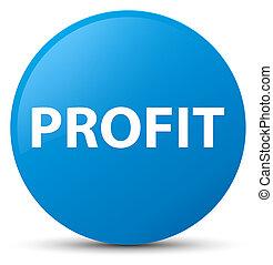 Profit cyan blue round button