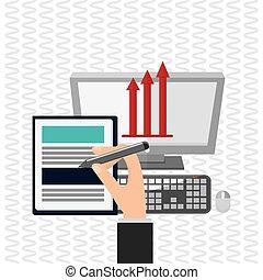 Profit design. Communication concept. Colorful illustration