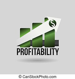 profit design  - profit graphic design , vector illustration