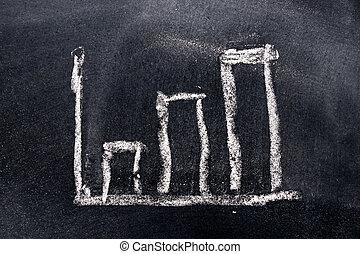 profit, dessiner, diagramme gantt, compagnie, (concept, ...