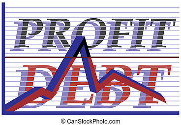 profit, dette