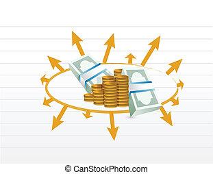 profit, diagramme, illustration affaires
