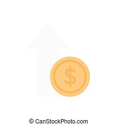 profit  flat color icon