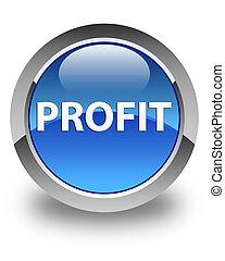 Profit glossy blue round button