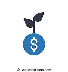 profit glyph color icon