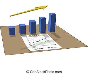 Profit graph - Vector graphic of a graph about profit