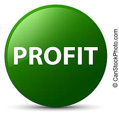 Profit green round button