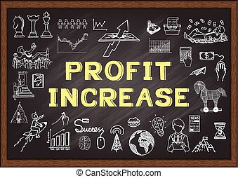 Profit Increase - Hand drawn icons about Profit Increase on...