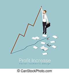 Profit increase concept illustration