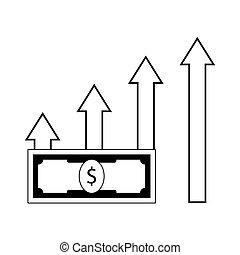 profit, ligne, croissance