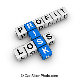 risk - profit, loss and risk (blue-white cubes crossword ...