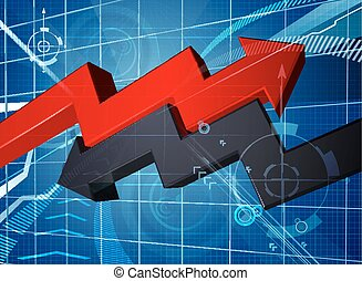Profit Loss Business Arrow Graph Background