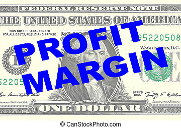 Profit Margin - financial concept - Render illustration of...