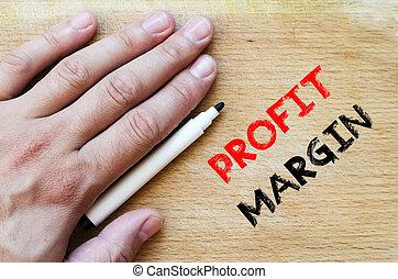 Profit margin text concept