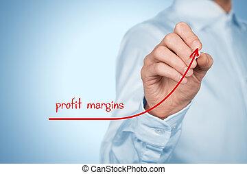 Profit margins - Increase profit margins concept. ...