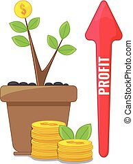 Profit or financial growth concept.