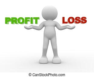 profit, perte, ou