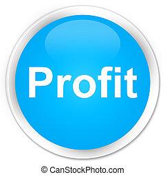 Profit premium cyan blue round button
