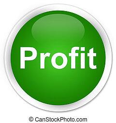 Profit premium green round button