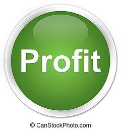 Profit premium soft green round button
