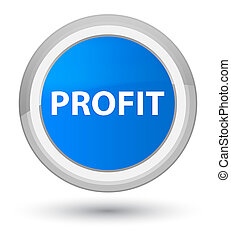 Profit prime cyan blue round button