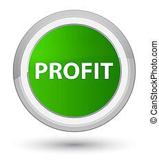 Profit prime green round button