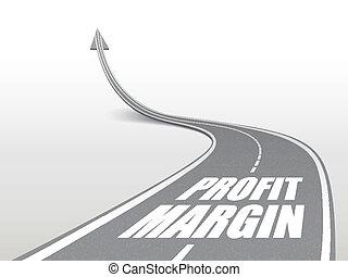 profit, route, marge, mots, autoroute