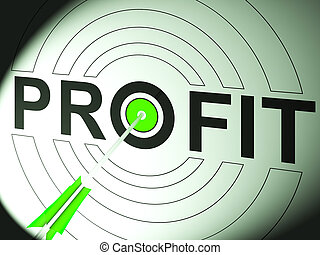 Profit Shows Business Success In Trading
