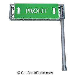 Profit signboard