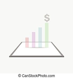 profit, vecteur, diagramme