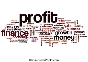 Profit word cloud
