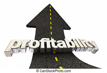 Profitability Earn More Net Revenue Money Road Arrow 3d...