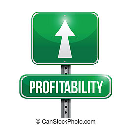 profitability sign illustration design over a white...