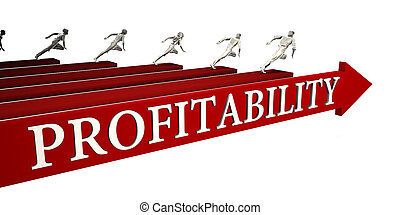 Profitability Solutions with Business People Running To...