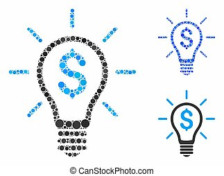 Profitable invention Composition Icon of Spheric Items - ...