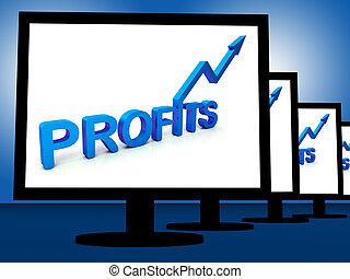 profitable, projection, moniteurs, profite, incomes