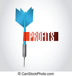 profits dart sign illustration design