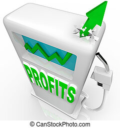 Profits Rising - Growth Arrow on Gas Pump